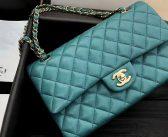 香奈儿Chanel高仿包包官网新款Classic Flap CF25.5蒂芙尼蓝