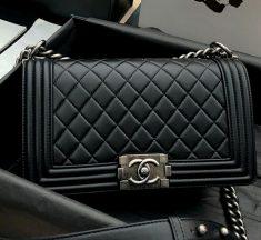 Chanel 香奈儿口盖包 正品尾皮系列 Leboy25 小羊皮链条包
