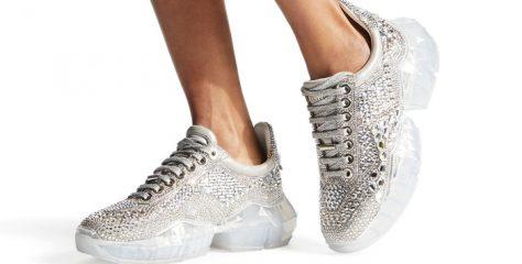 19Ss周仰杰早春新款Diamond运动鞋 宋茜同款JIMMY CHOO运动鞋
