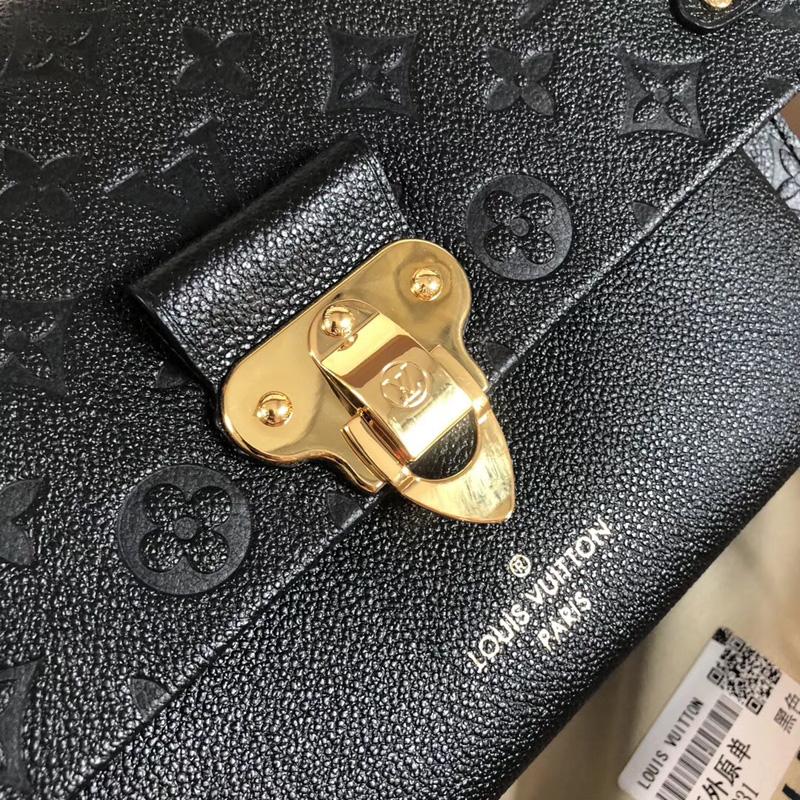 M44151 LV Vavin 小号手袋 LV女包 LV牛皮压花女包 LV锁扣包 LV链条包 黑色