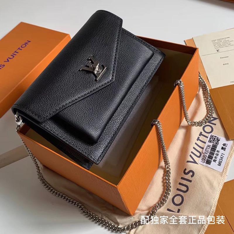 M63471 LV Pochette MyLockMe Chain 手袋 LV女包 LV信封包 LV链条包 黑色