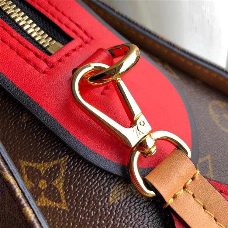 LV包包包包/路易威登女包女包 M43795 老花拼红色 Tuileries 手袋