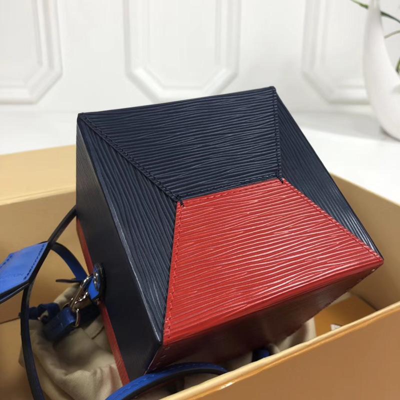 M52466 LV Bleecker Box 手袋 Epi皮革 Cube手袋 LV女包 LV盒子包 蓝色