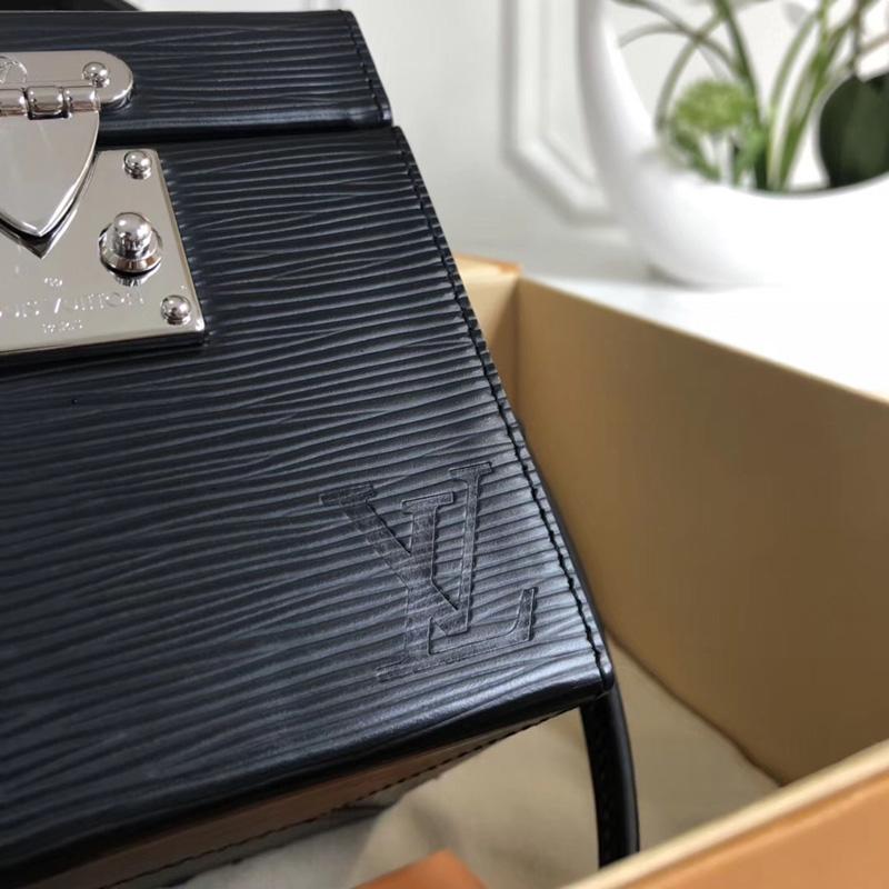 M52703 LV Bleecker Box 手袋 Epi皮革 Cube手袋 LV女包 LV盒子包 黑色