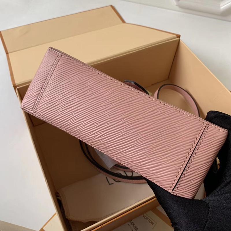 M52879 LV Locky BB 手袋 Epi皮革挂锁包 LV女包 LV手提包 LV单肩包 粉色