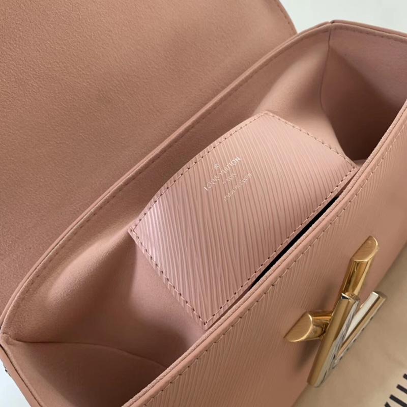 M53561 LV TWIST 中号手袋 彩色刺青装饰 LV女包 LV女士单肩包 粉色