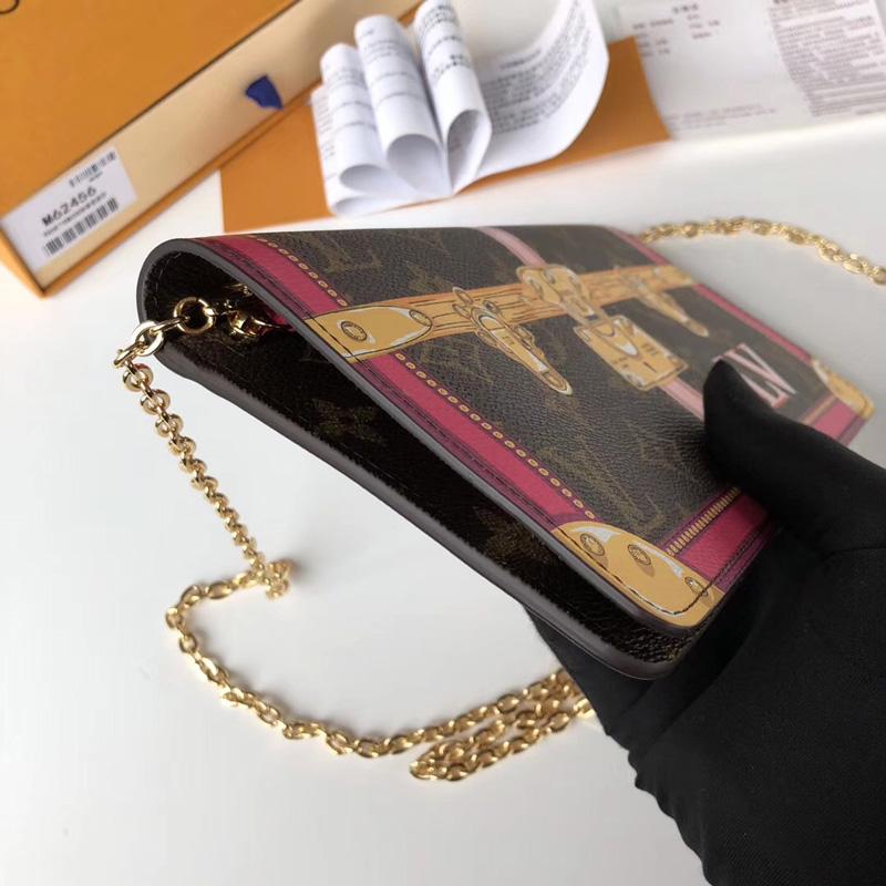 M62456 LV Pochette Weekend 手袋 LV挂锁丝印图案女包 LV女包 LV链条包