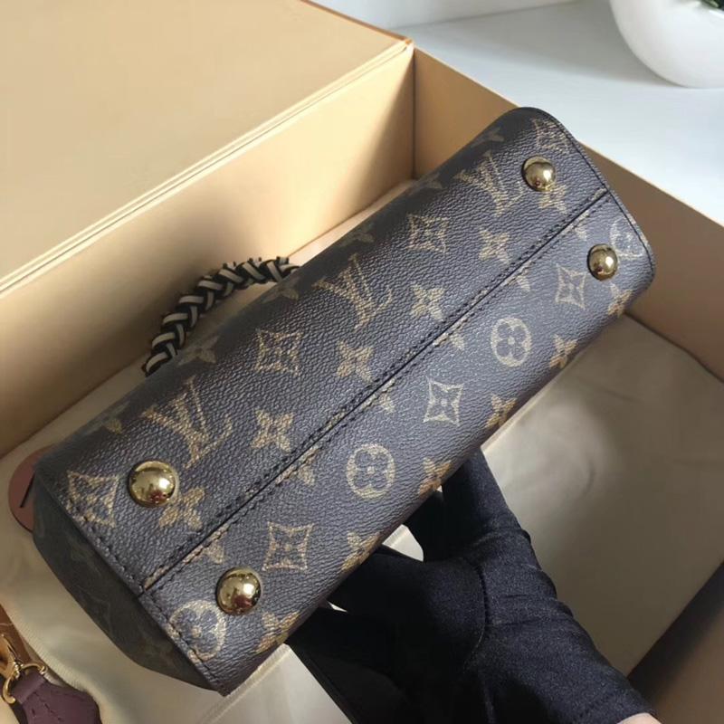 M43982 LV Cluny BB 手袋 LV Monogram帆布材质女包 LV手柄编织款邮差包