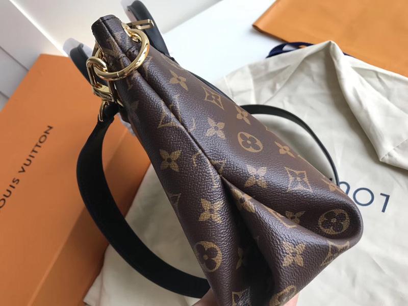 M44351 LV Flower BB 拉链 Tote 手袋 LV女包 单肩手提包 黑色